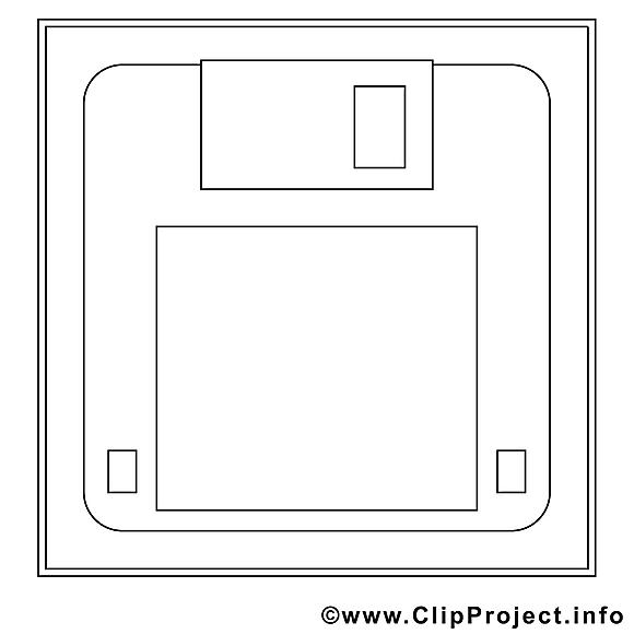 Disquette images gratuites – Travail à colorier