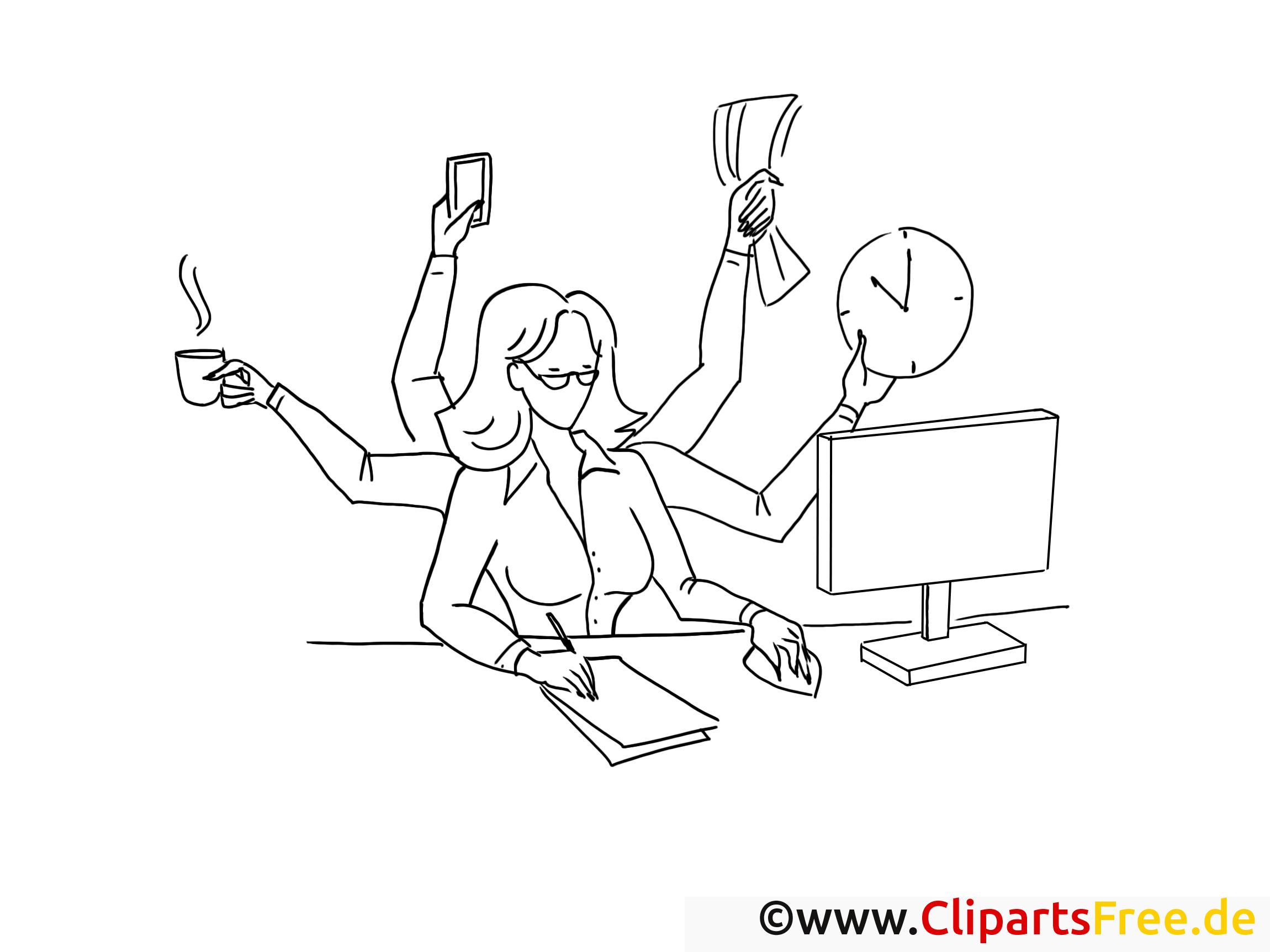 Femme d'affaire illustration – Travail à colorier