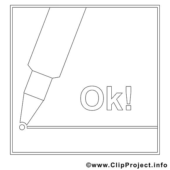 Feutre illustration – Travail à colorier