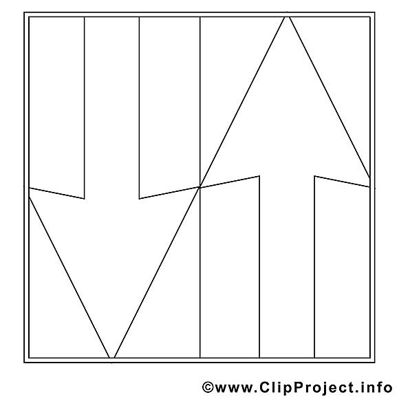 Flèche clip art gratuit – Travail à imprimer