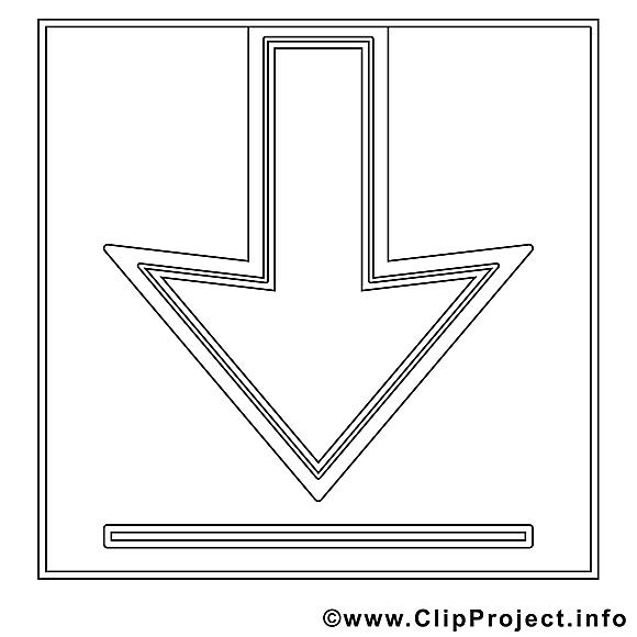 Flèche clip arts – Travail à imprimer