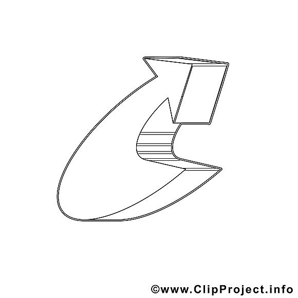 Flèche dessin – Coloriage travail à télécharger