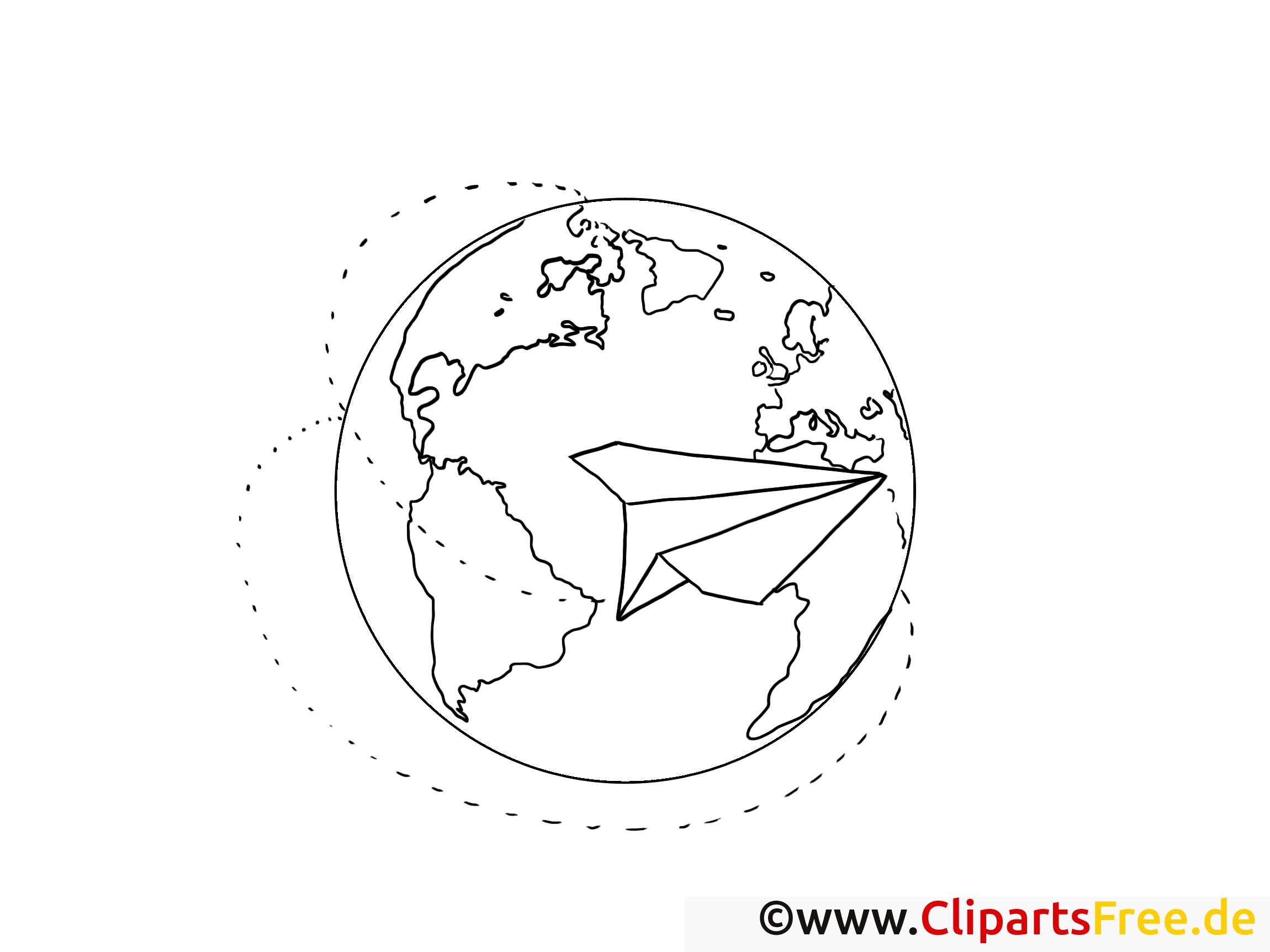 Globe dessin – Coloriage travail à télécharger