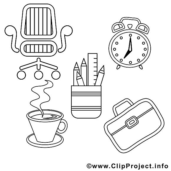 Office dessin – Coloriage travail à télécharger