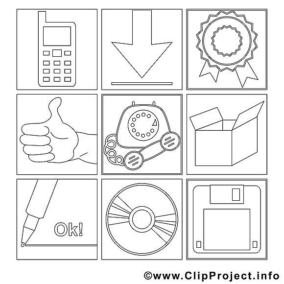 Office dessin gratuit – Travail à colorier