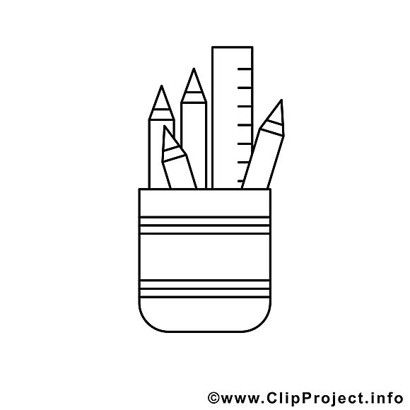 Papeterie clip art – Travail image à colorier
