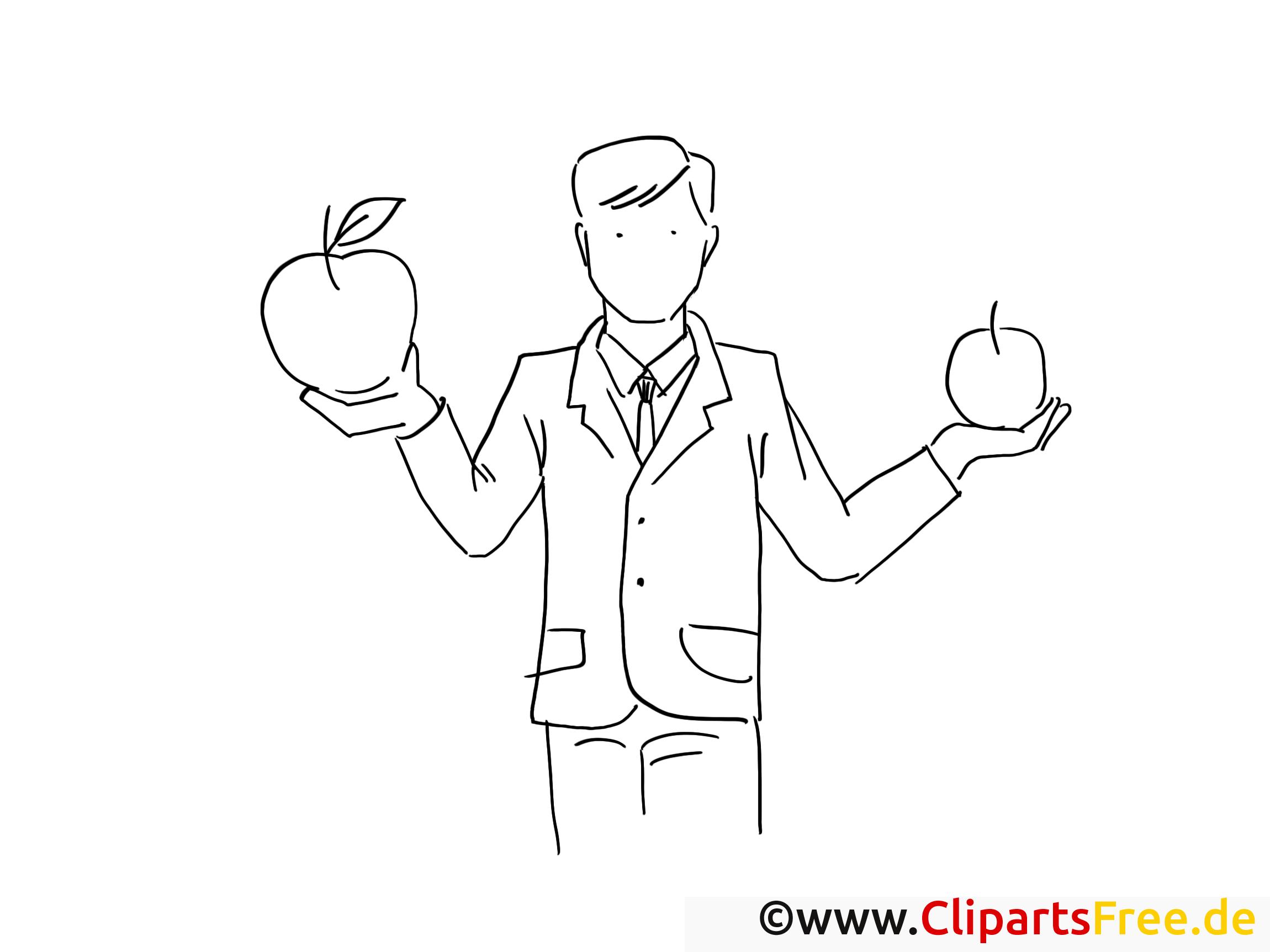 Pommes image à télécharger – Travail à colorier