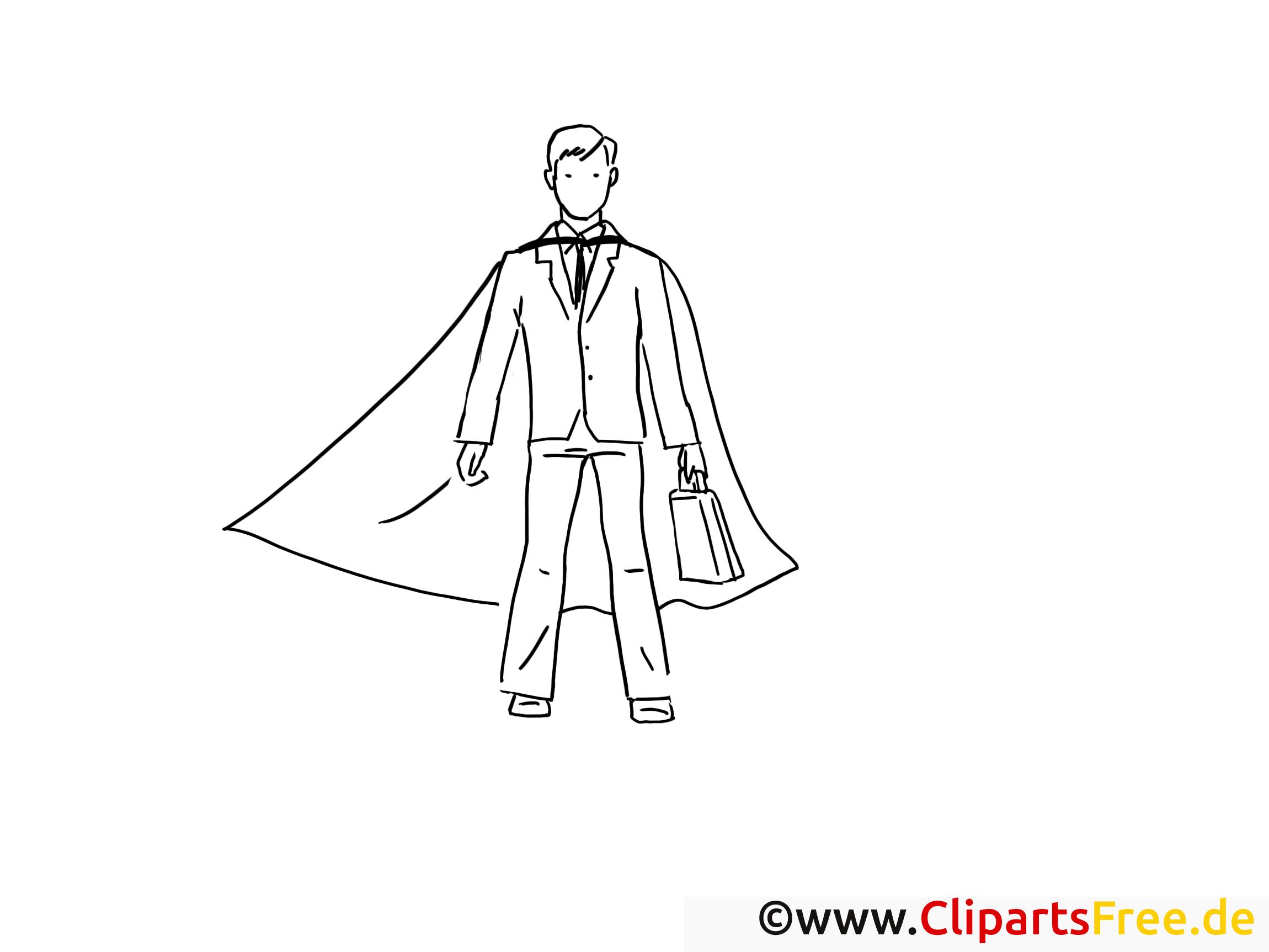 Superman clipart – Travail dessins à colorier