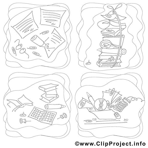 Travail clip art image à colorier