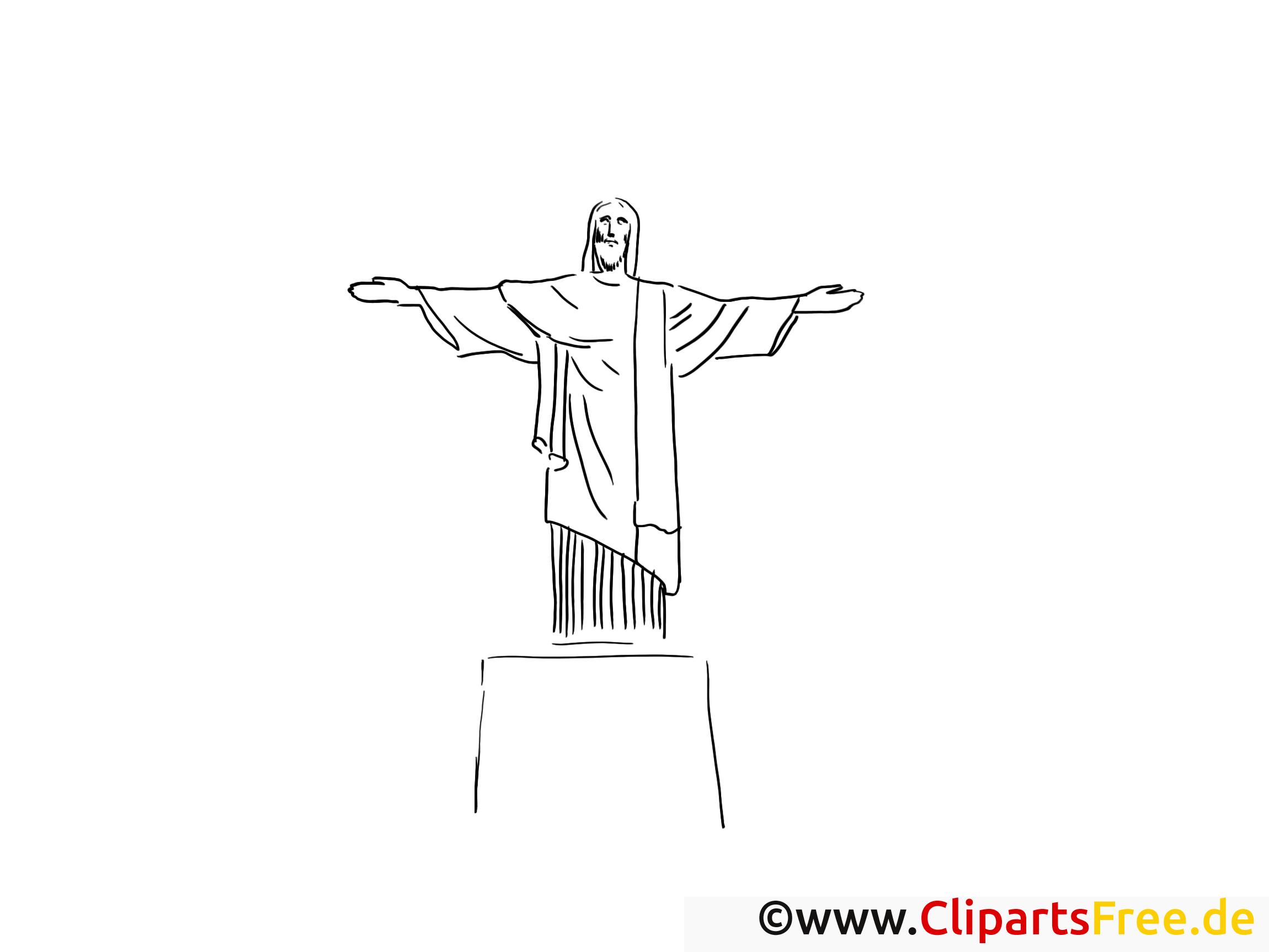 Dessin Christ Redempteur christ rédempteur dessin – voyage à colorier - voyage coloriages