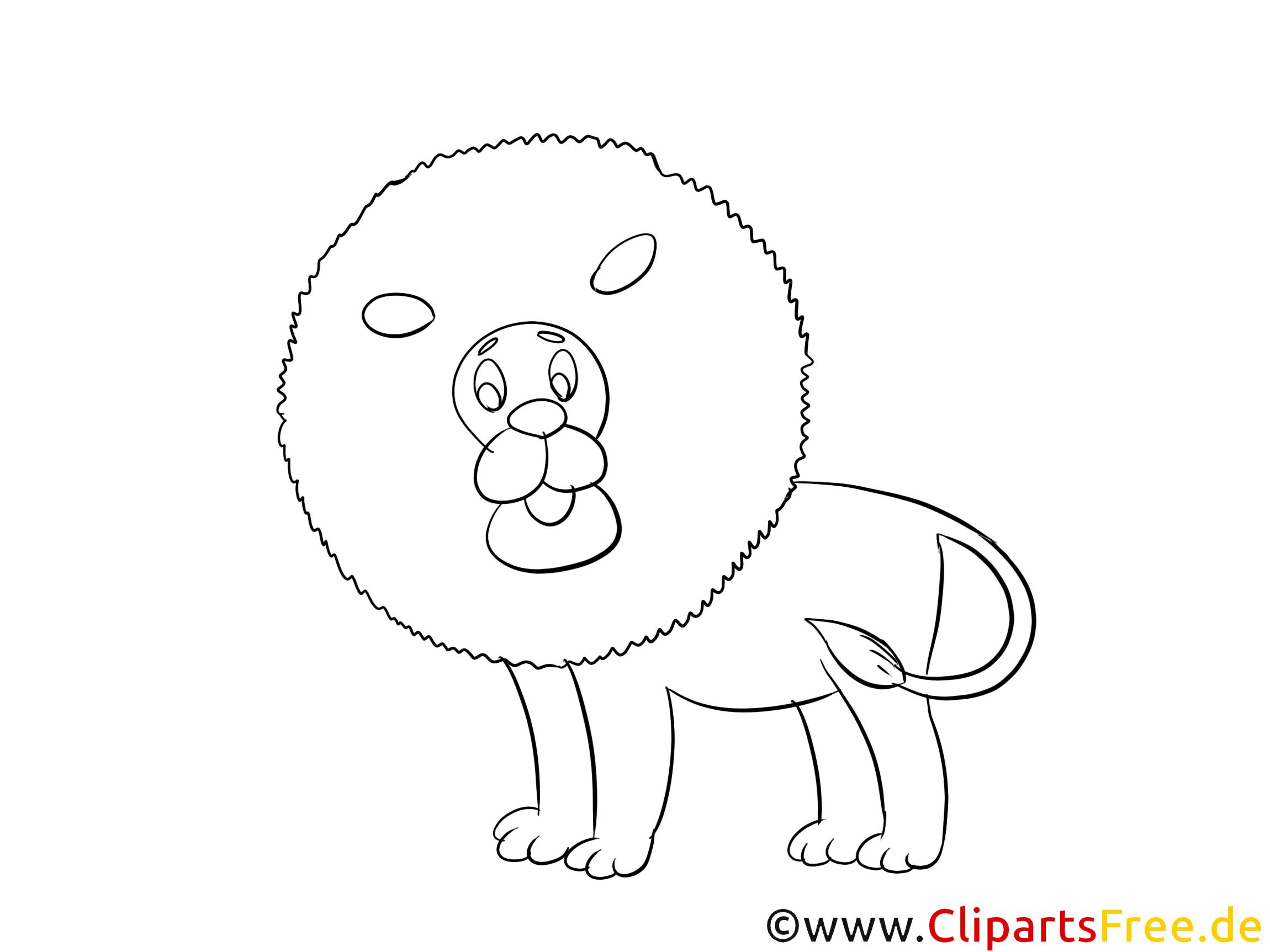 coloriage lion image tlcharger gratuite