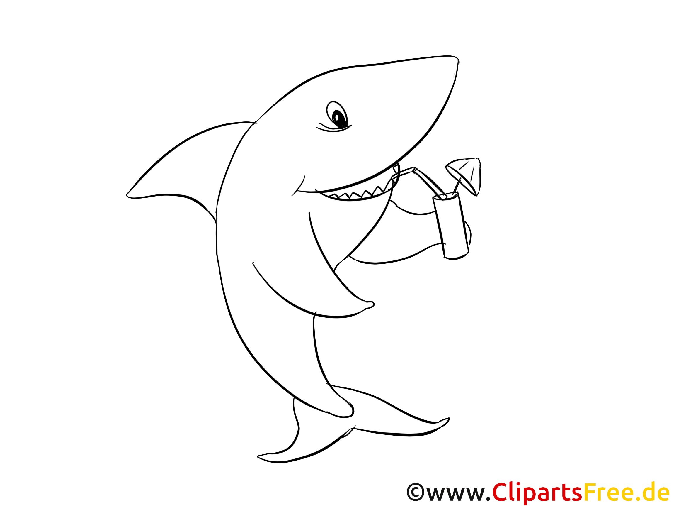 Frais Dessin A Colorier De Requin