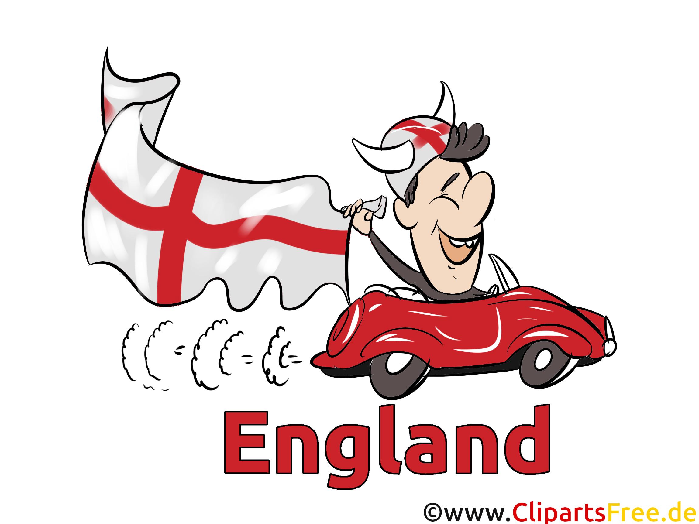 Voiture Gratuit Soccer Clip arts Angleterre télécharger