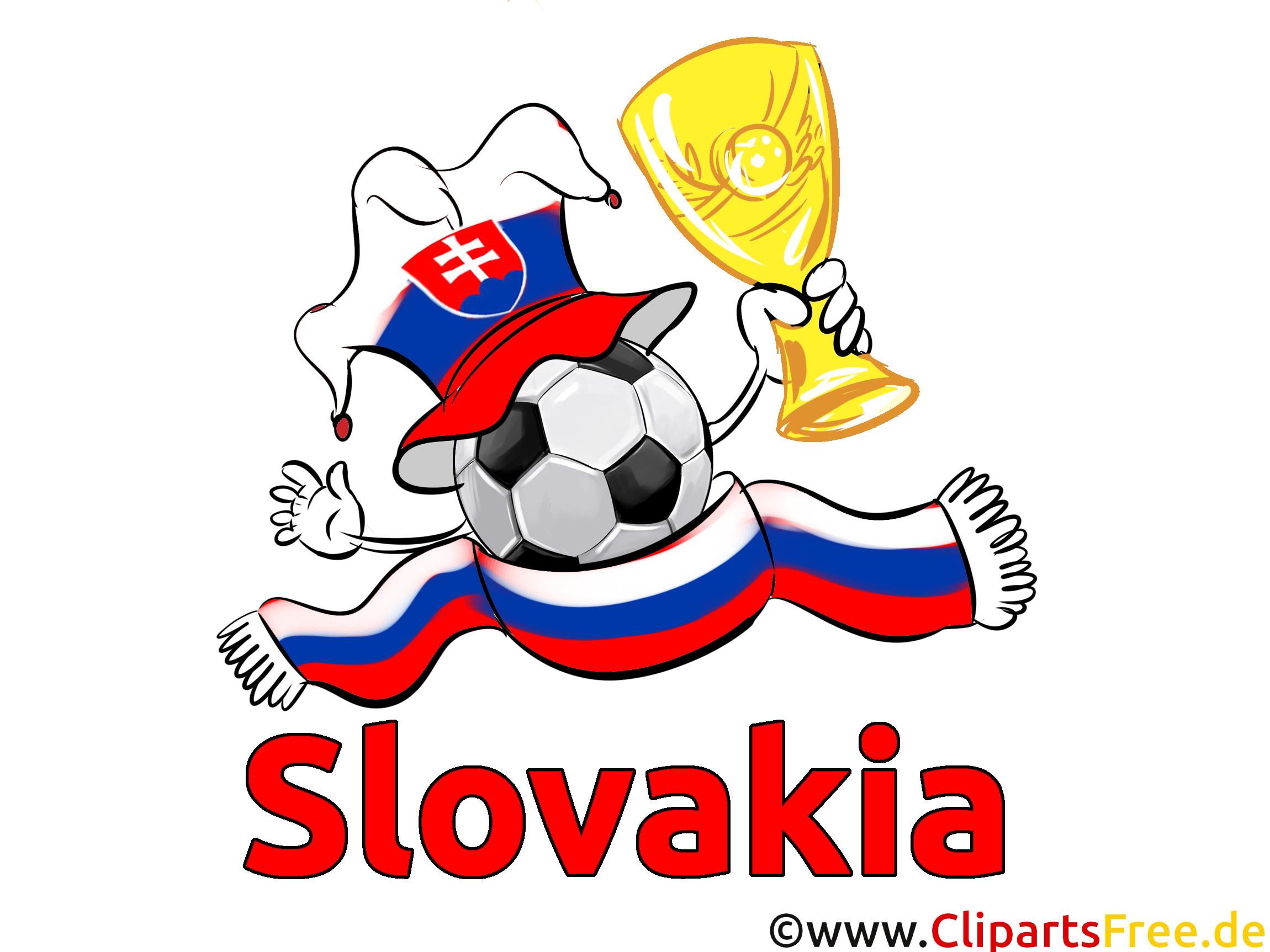 Soccer gratuit Slovaquie Cliparts Joueurs avec le Ballon