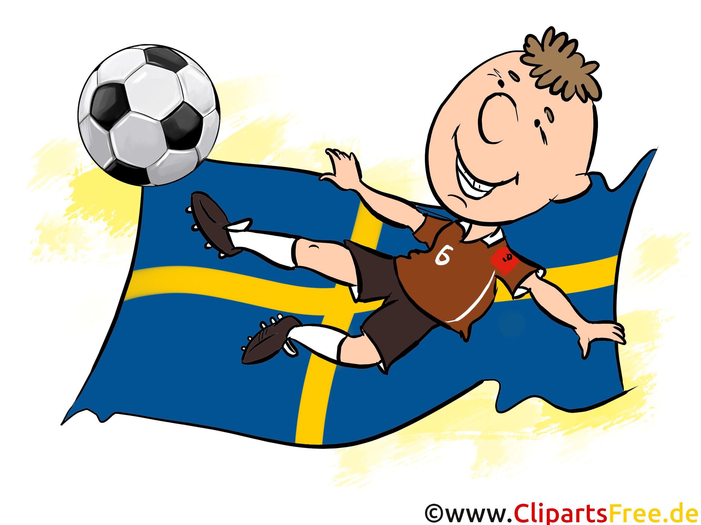 Drapeau Suède Ballon Football gratuit pour télécharger