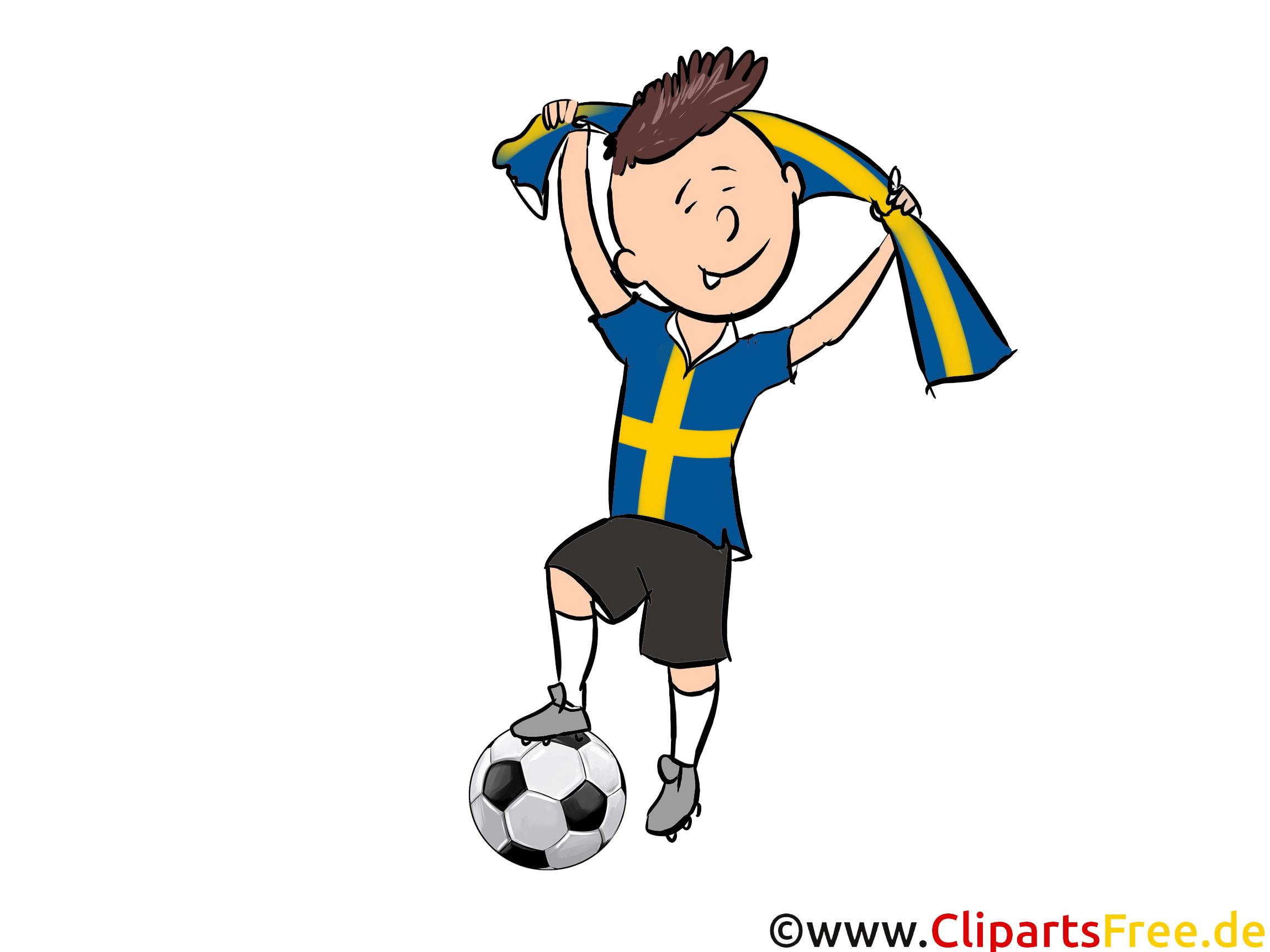 Soccer Suède gratuit Cliparts Joueurs avec le Ballon