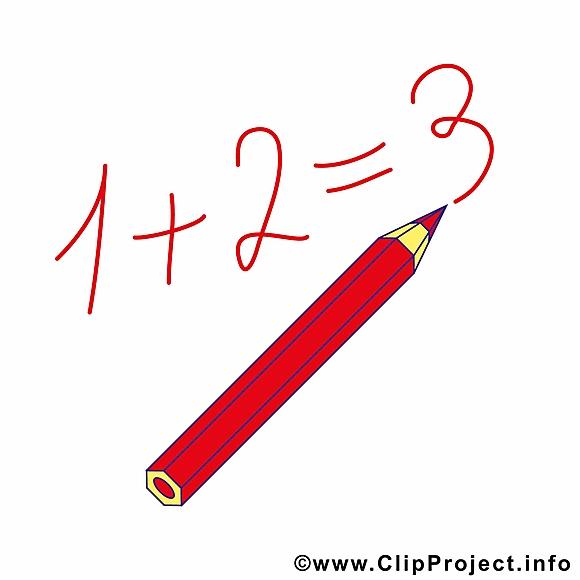 Crayon équation dessin – Début école clip arts gratuits