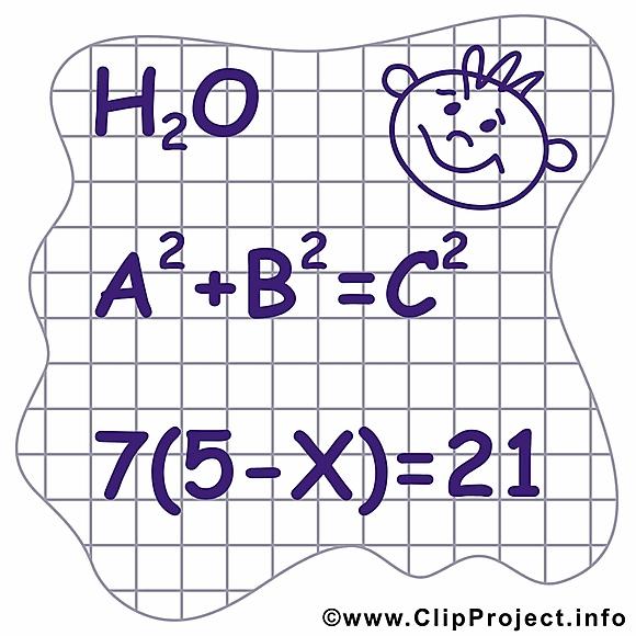 Équations cliparts gratuis – Début école images