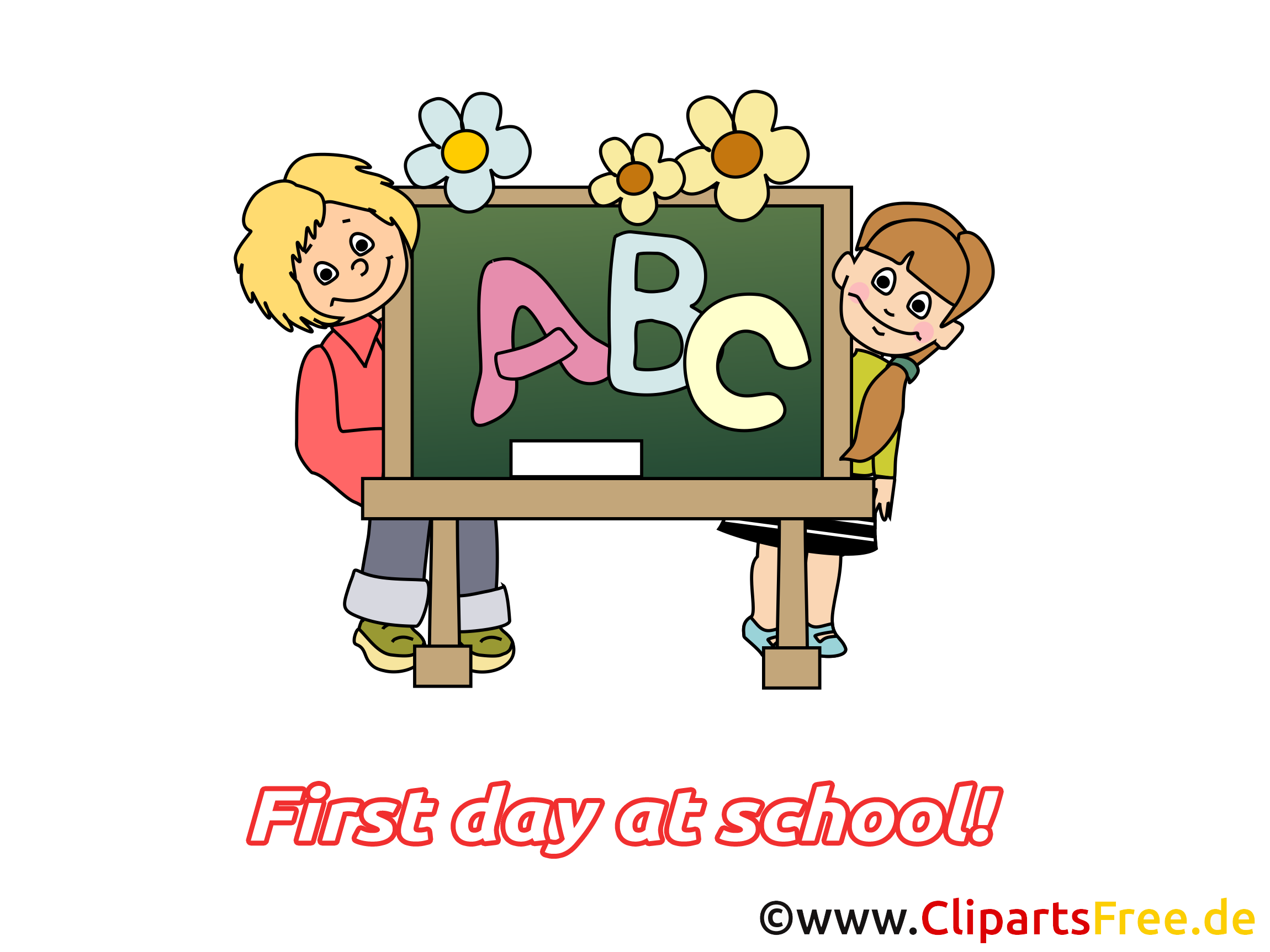 Illustration gratuite lettres – Début école clipart