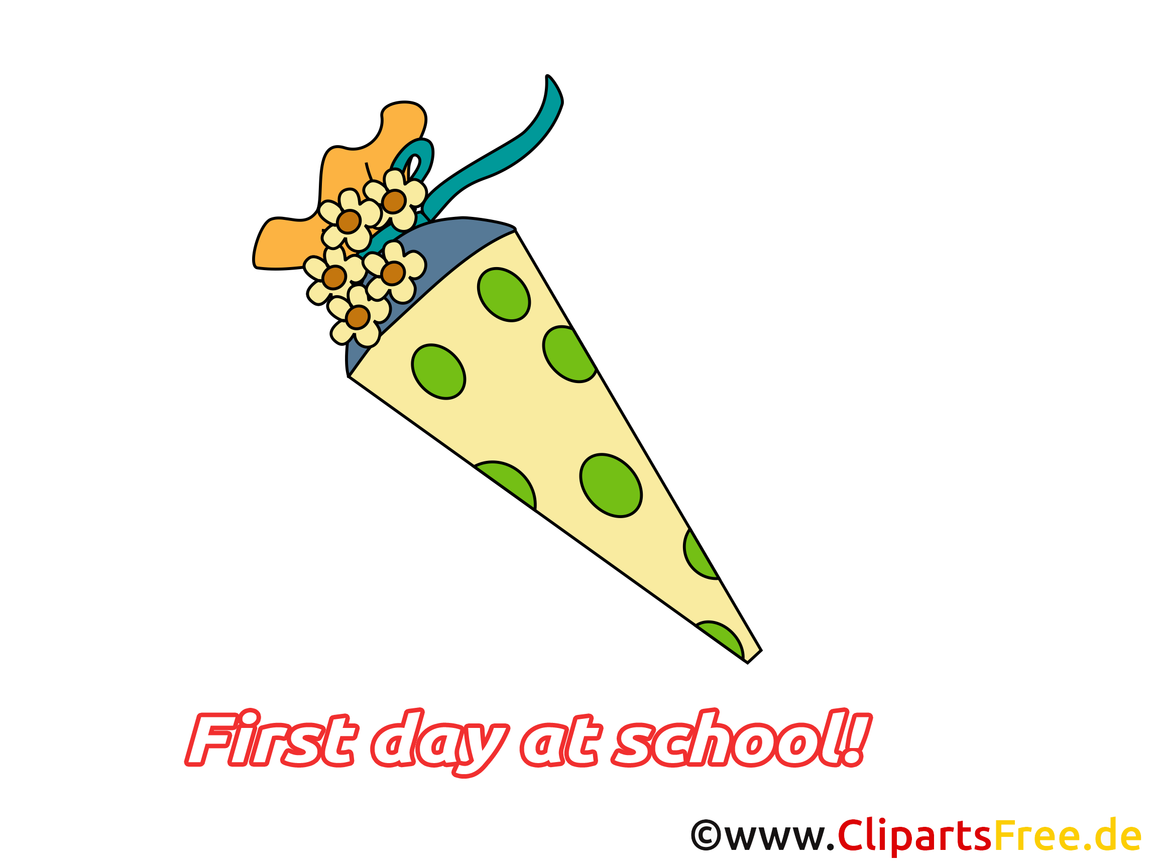 Maternelle clip arts gratuits – Début école illustrations