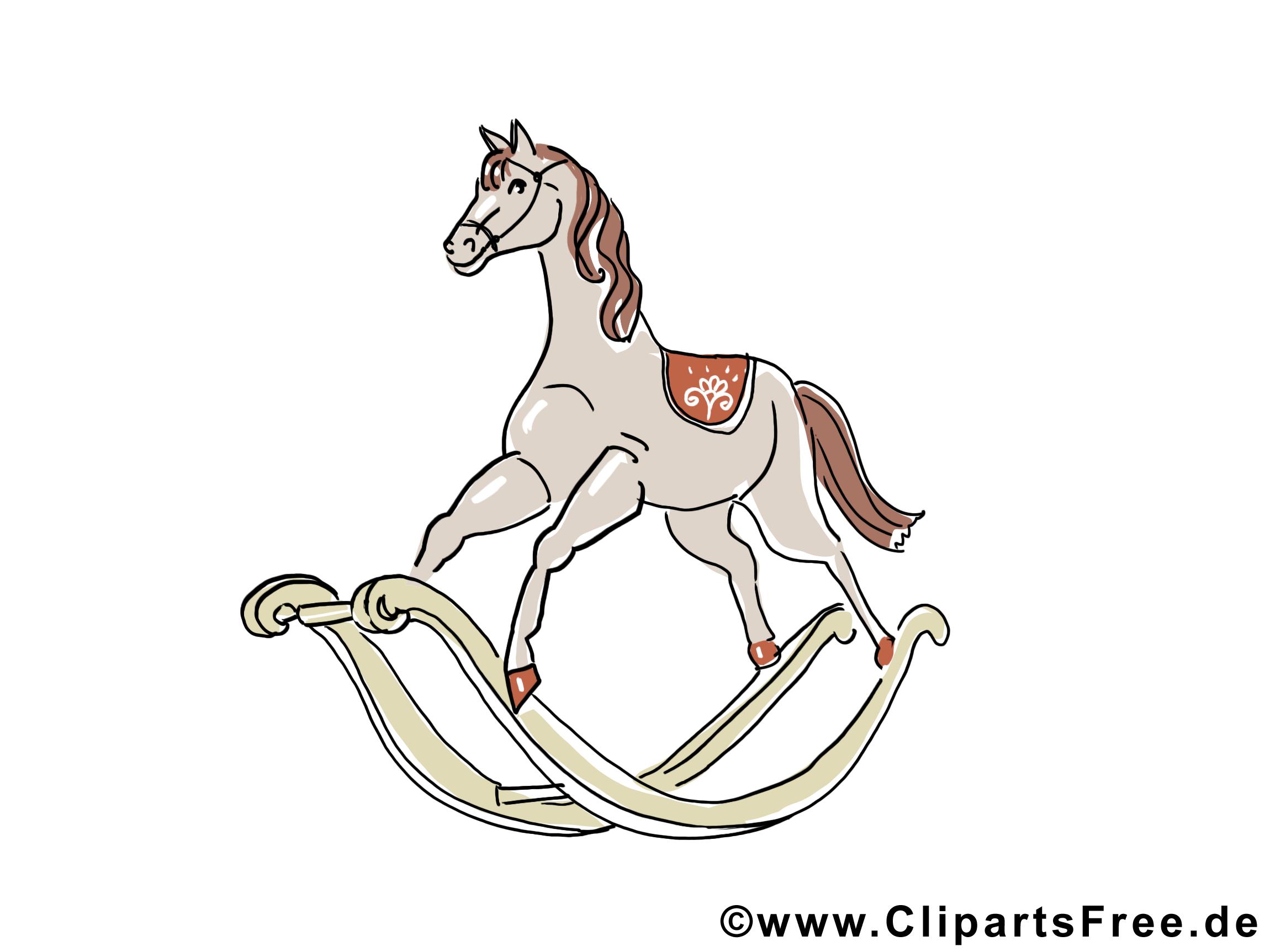 Clipart Cheval Gratuit cheval en bois clipart gratuit - jouet images - divers dessin
