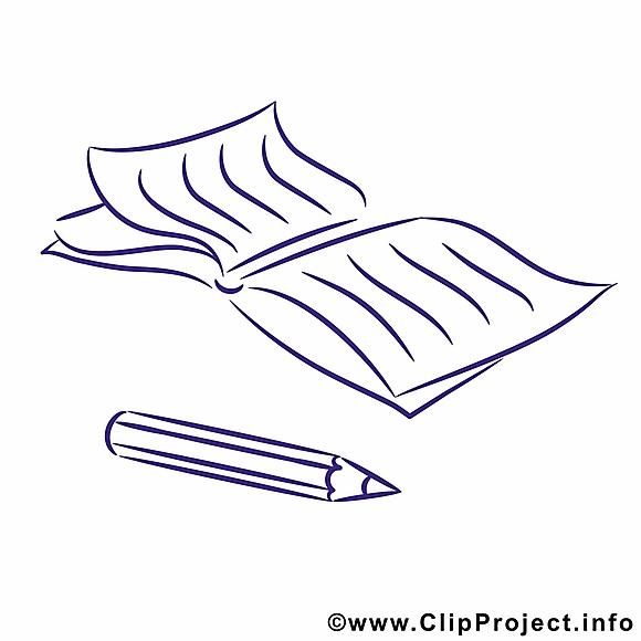 Cahier dessin à imprimer – École images