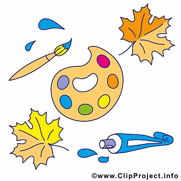 Couleurs clipart pinceau – École dessins gratuits