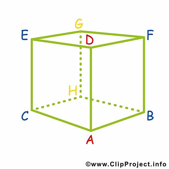 Cube géométrie cliparts gratuis – École images