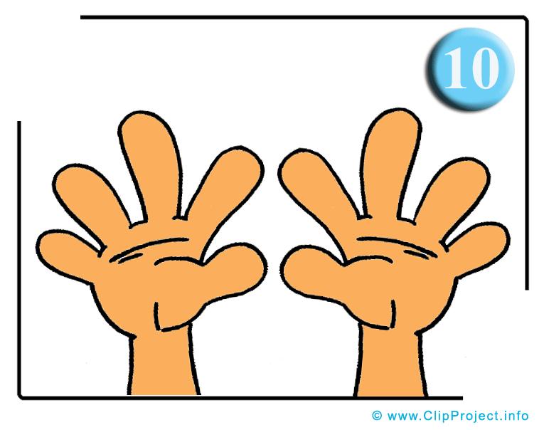 Dix doigts dessin gratuit – École image