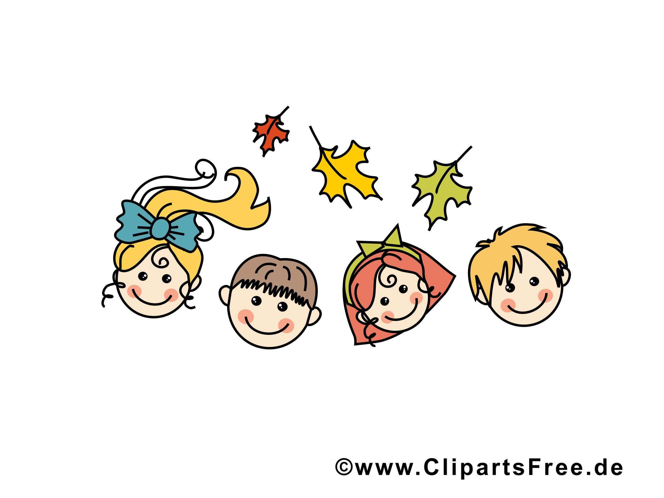 Enfants clip arts gratuits – École illustrations
