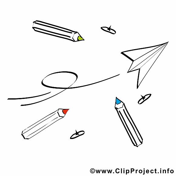 Fourniture scolaire image gratuite – École clipart