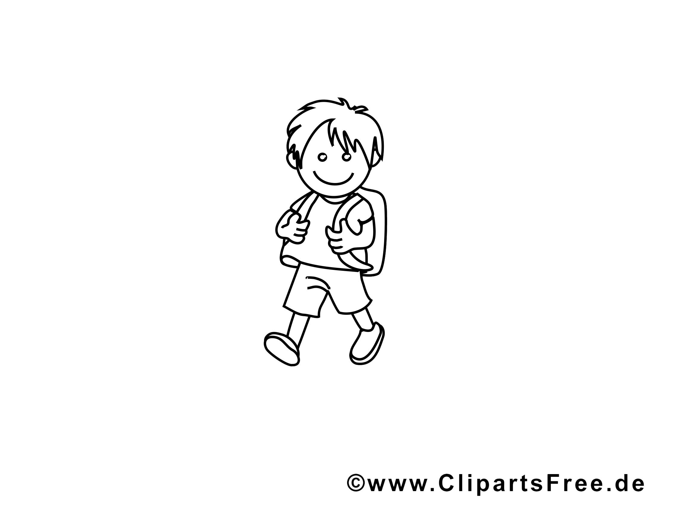 Garçon image a imprimer – École illustration