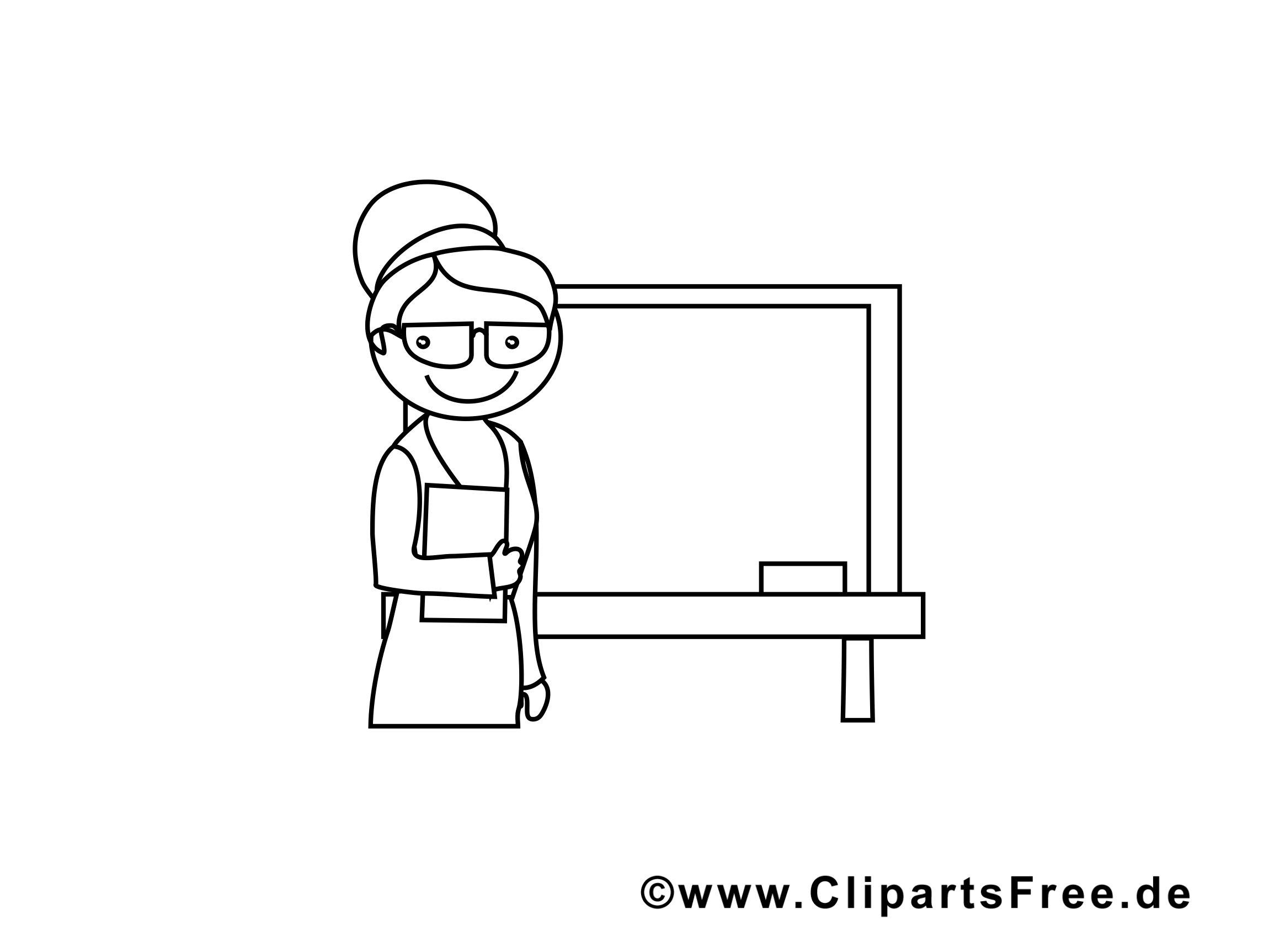 Tableau clip arts à colorier – École illustrations