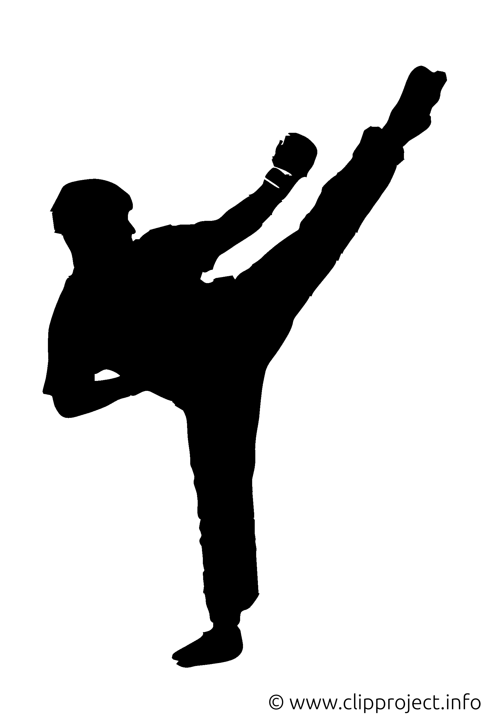 Kickboxer clip arts gratuits – Logo illustrations