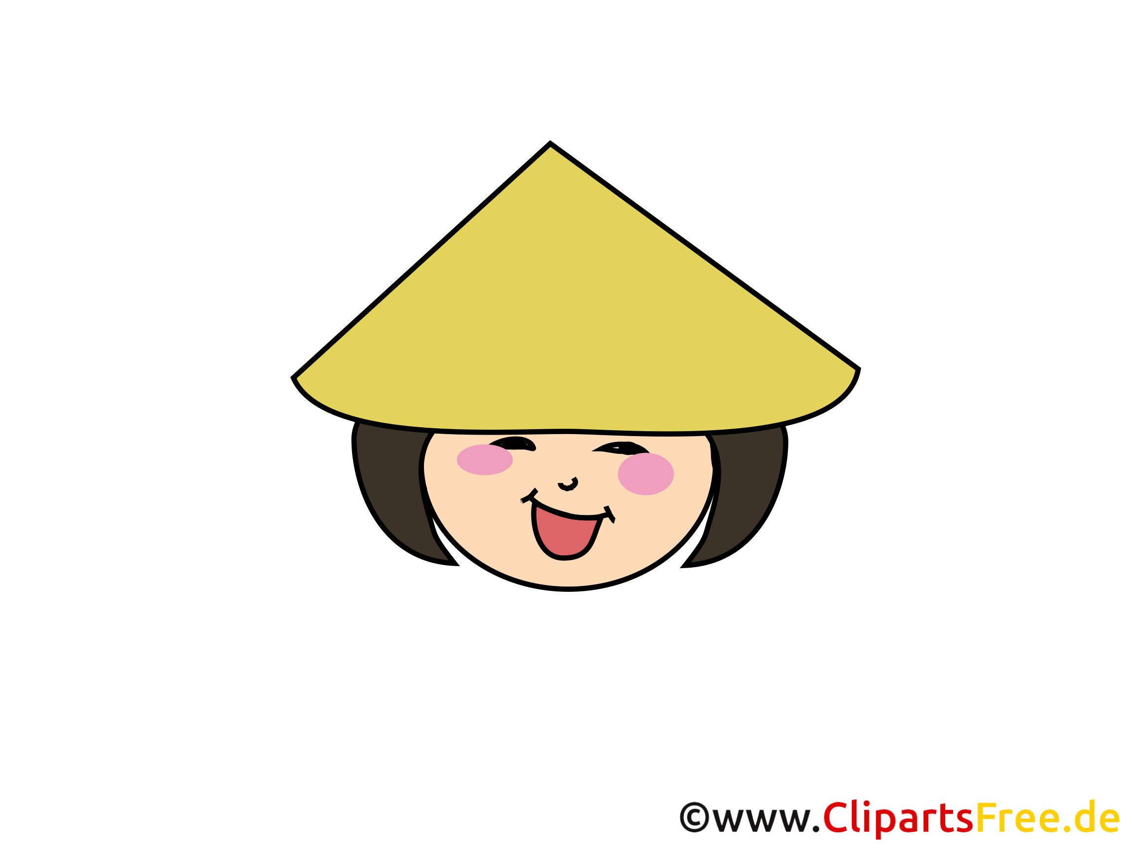 Chinoise clip arts gratuits – Émoticônes illustrations