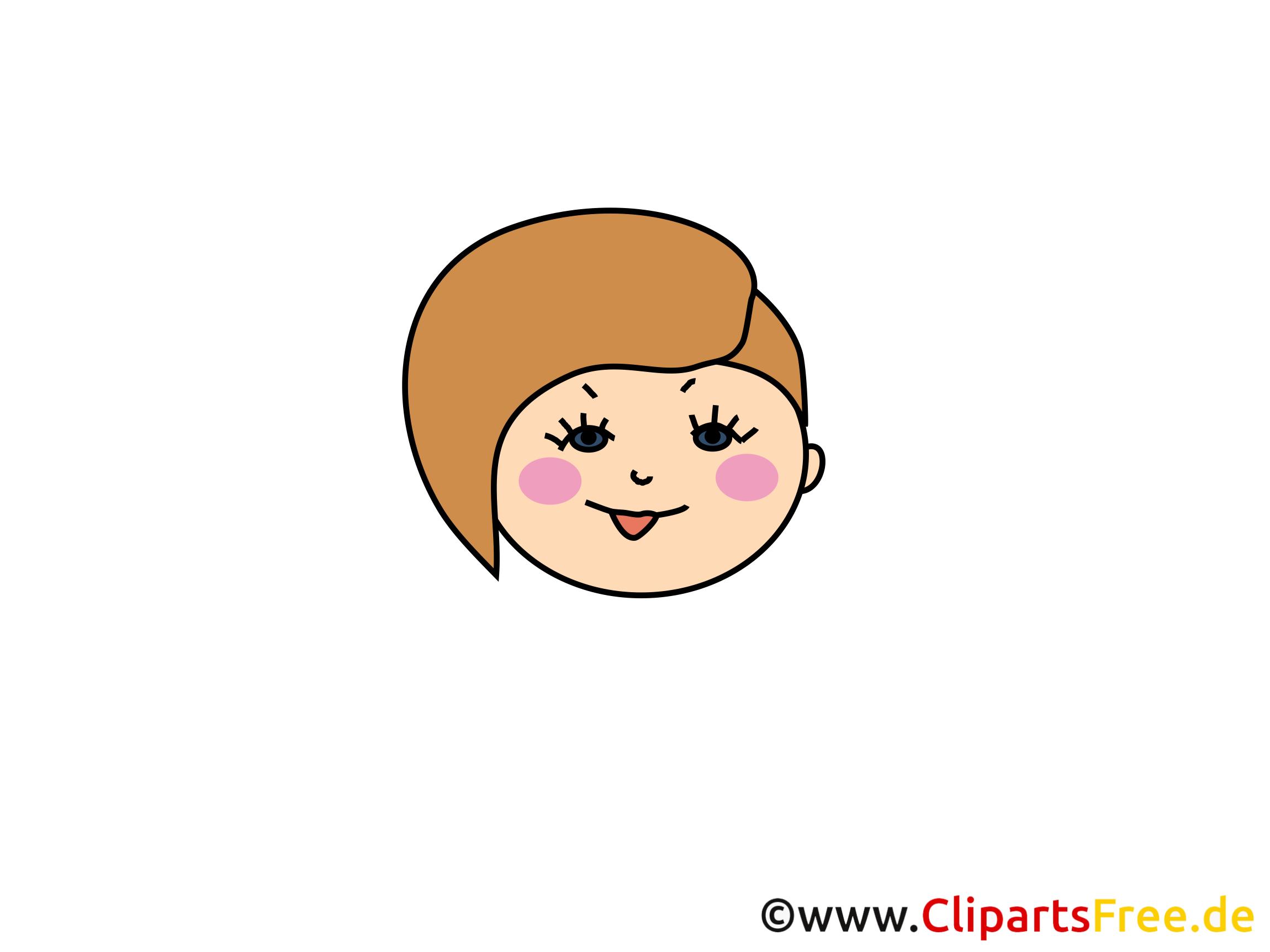 Clipart femme – Émoticônes dessins gratuits