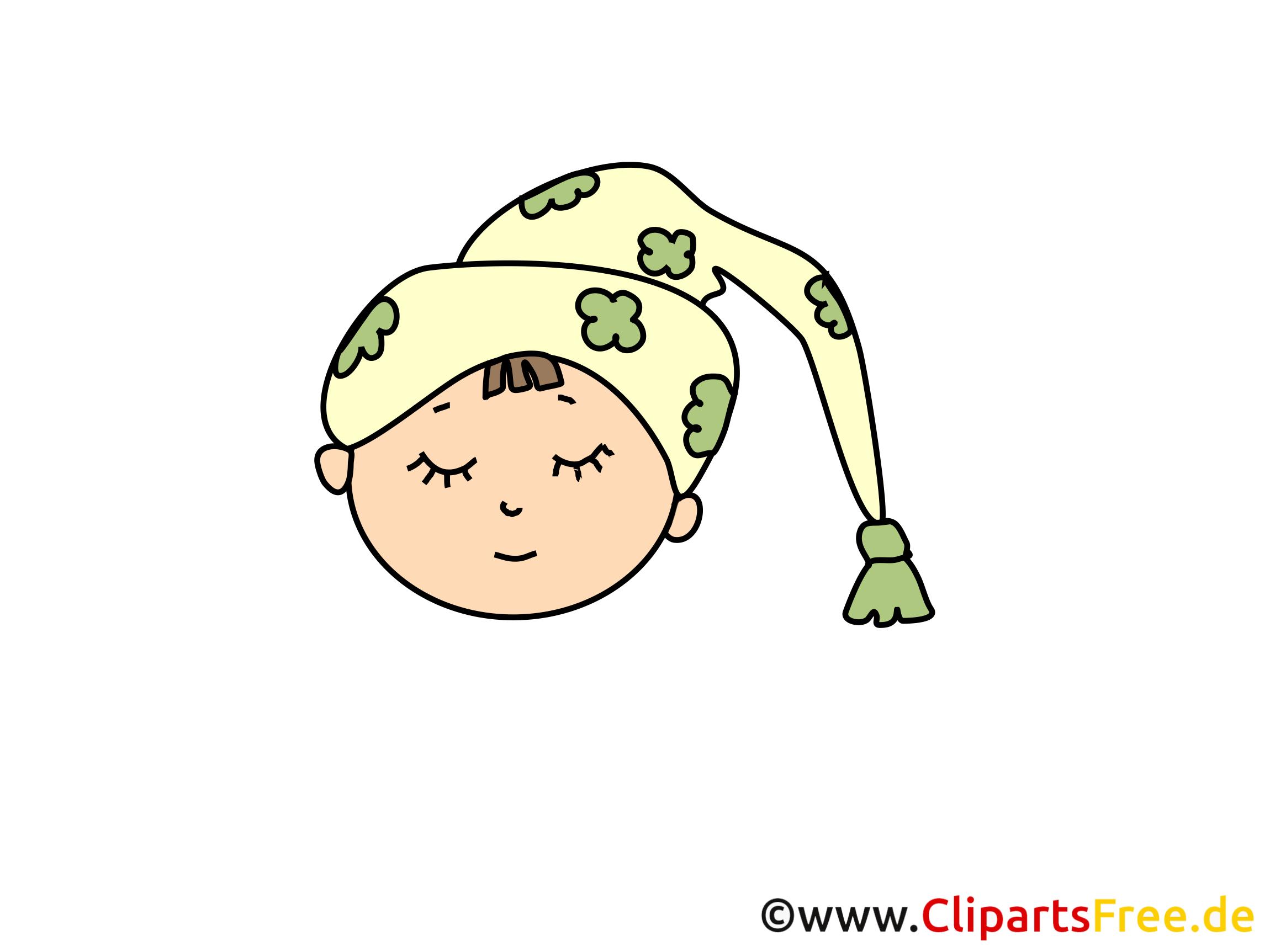 Dormeur illustration gratuite – Émoticônes clipart