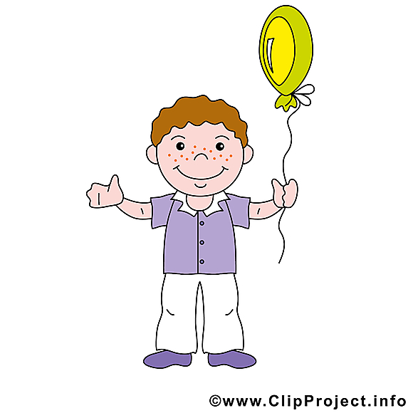 Clip arts gratuits ballon - Garçon illustrations