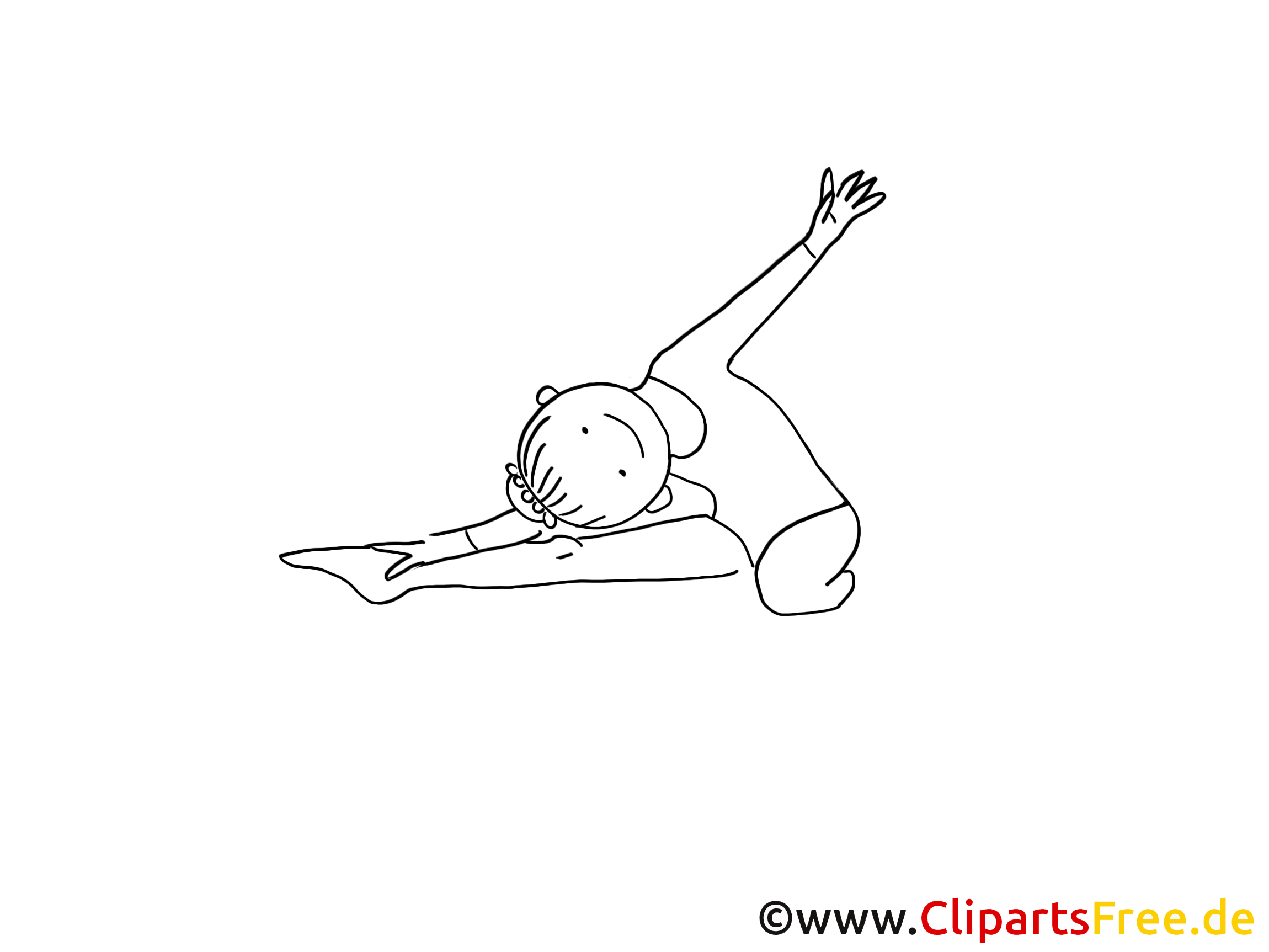 Coloriage gymnastique clipart gratuit dessins
