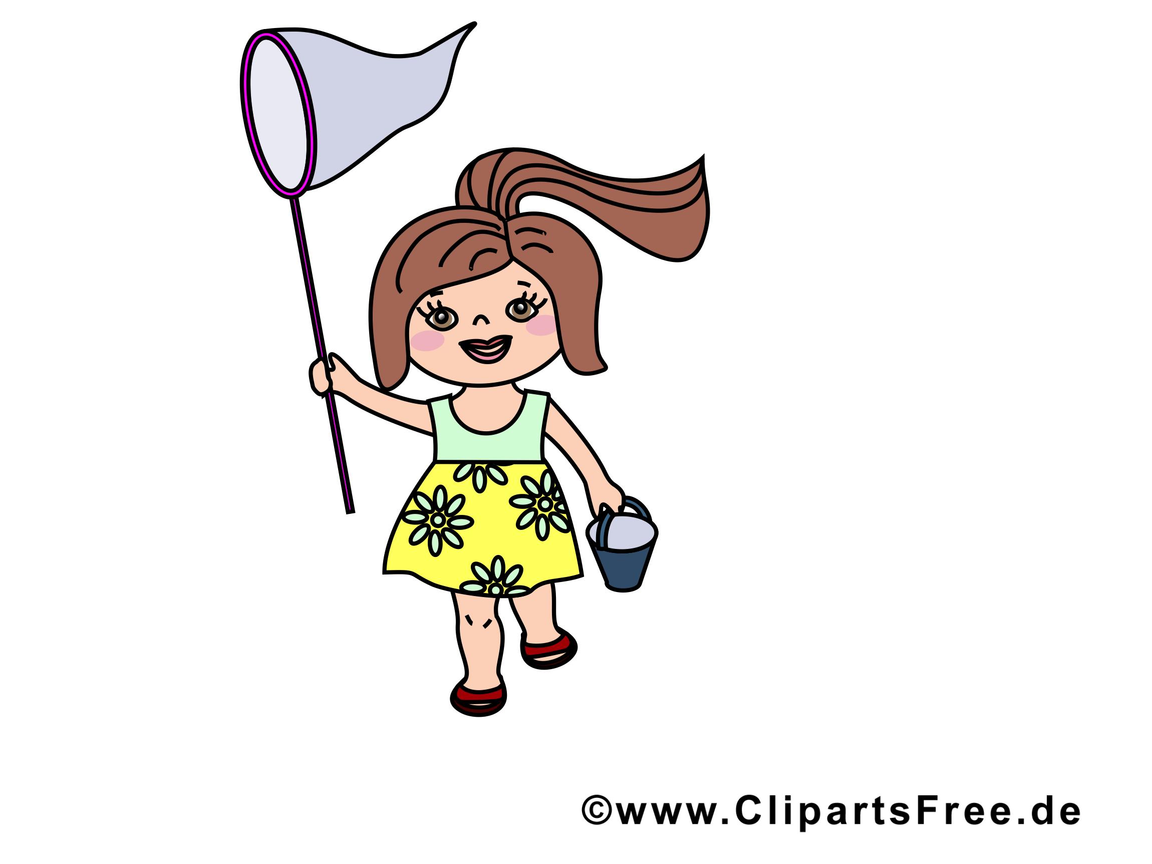 Épuisette image gratuite - Petite fille illustration