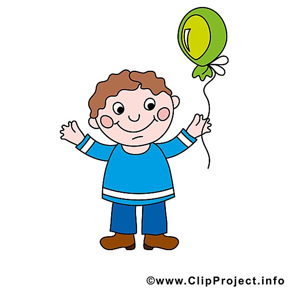 Garçon image gratuite - Ballon illustration