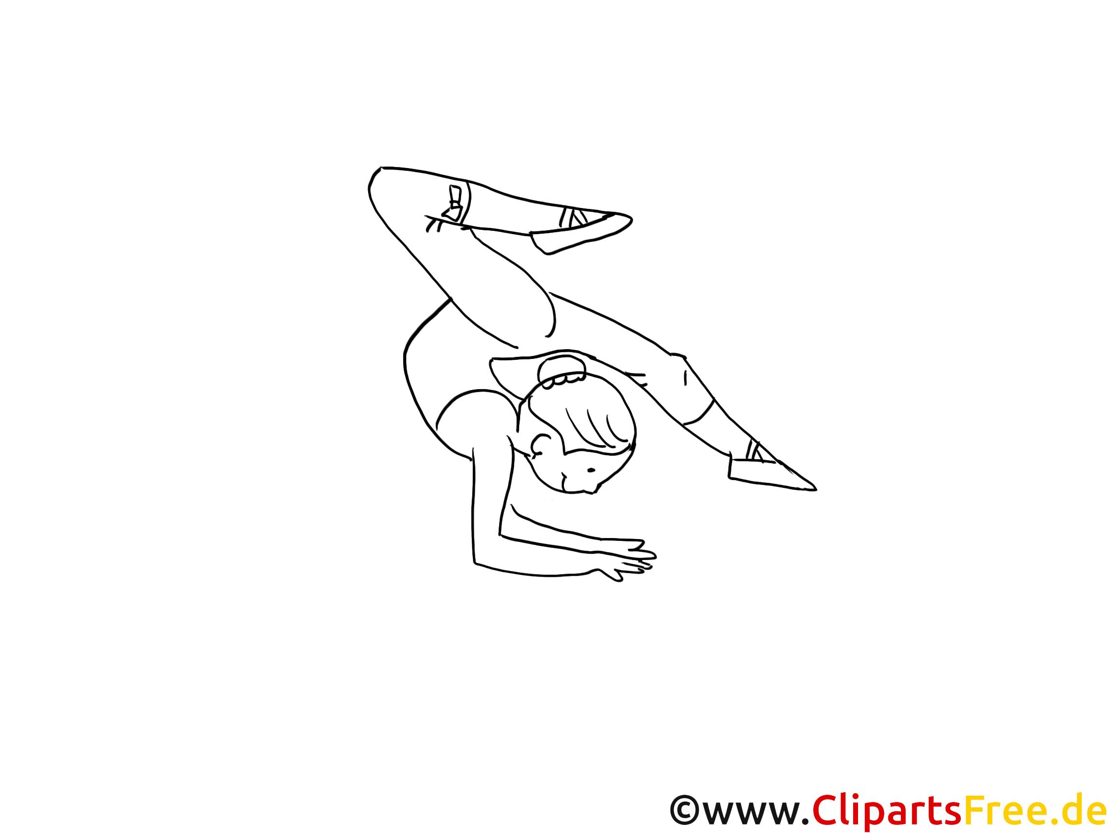 Gymnastique dessin à colorier cliparts à télécharger