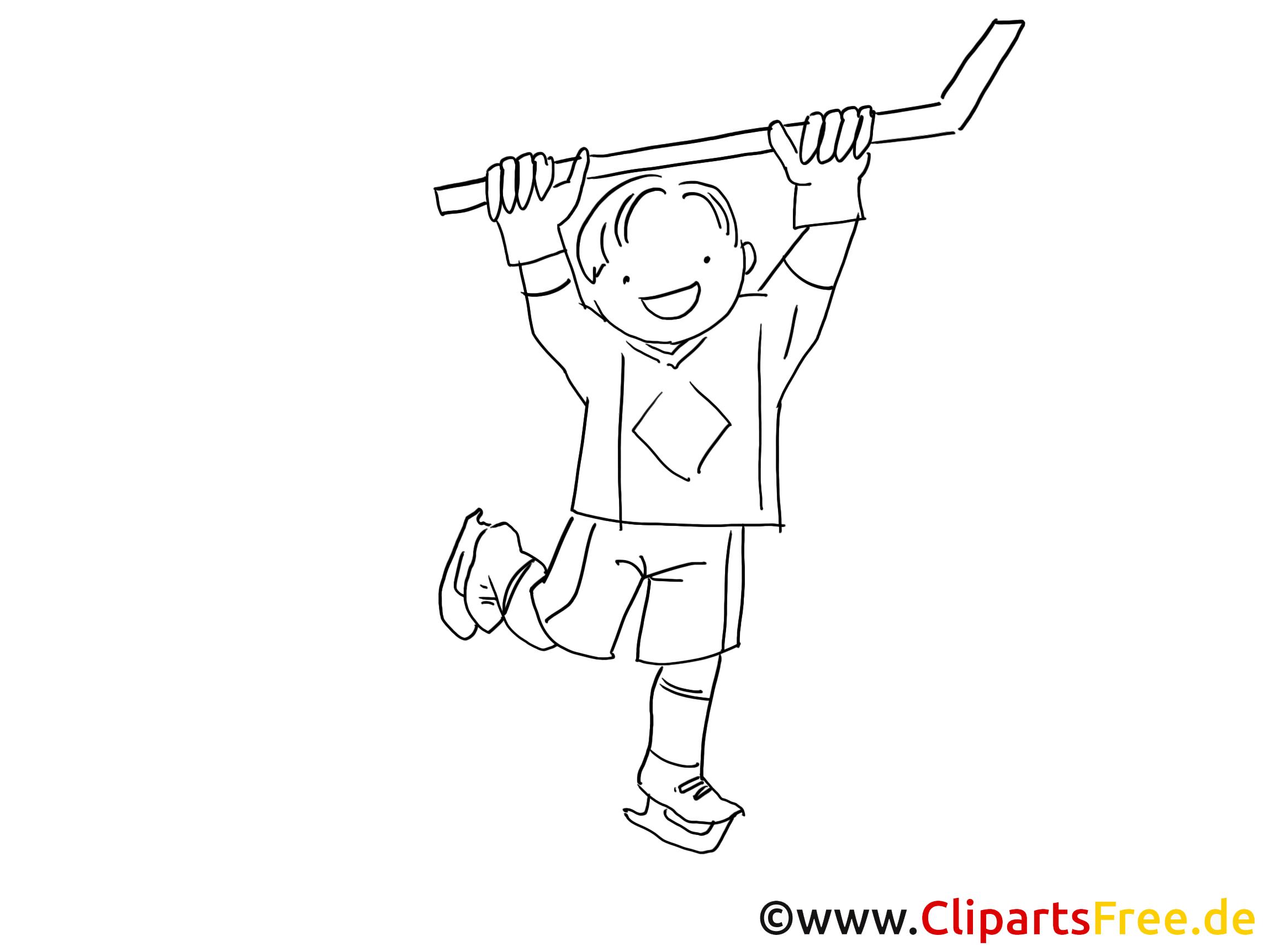 Hockey dessin à colorier - Enfant images