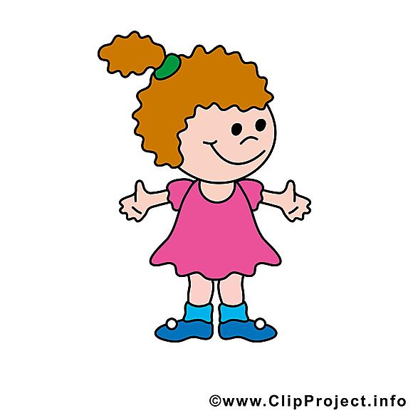 Petite fille clip arts gratuits illustrations