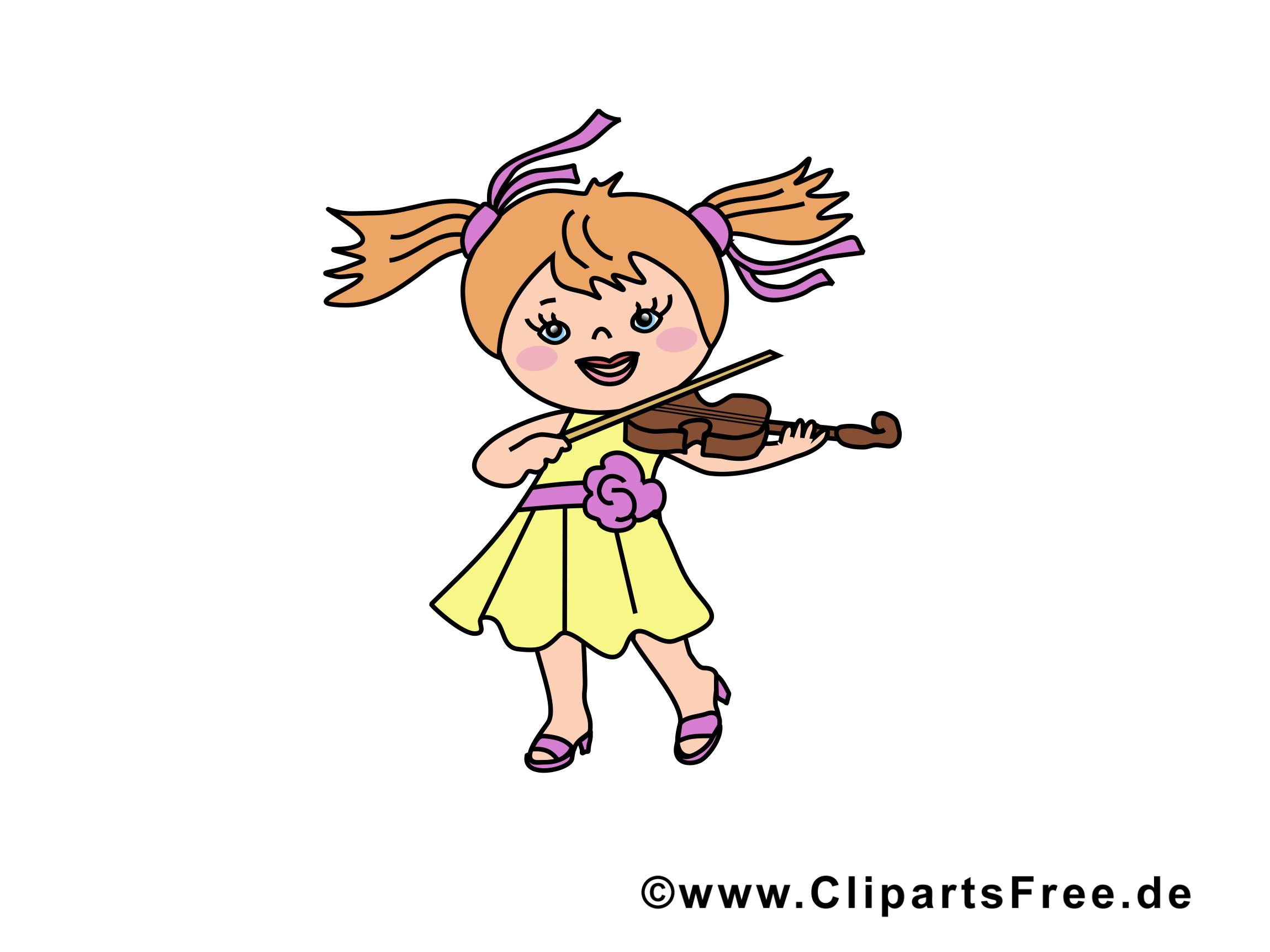 Violon clip art gratuit – Fille images gratuites