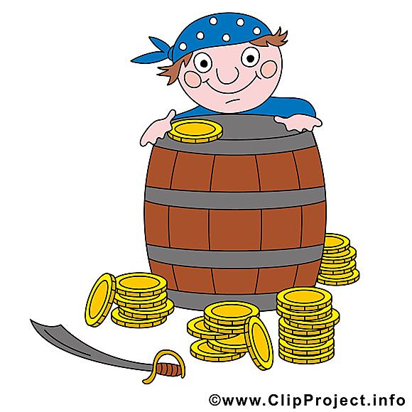 Monnaies clipart gratuit - Pirates dessins gratuits