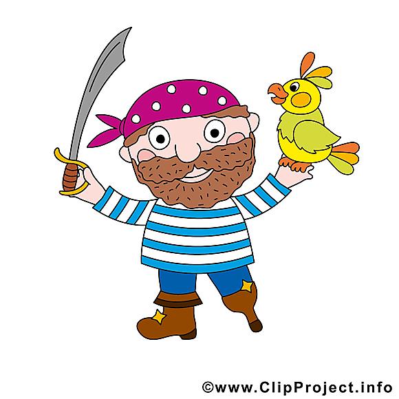Perroquet clipart gratuit - Pirate images