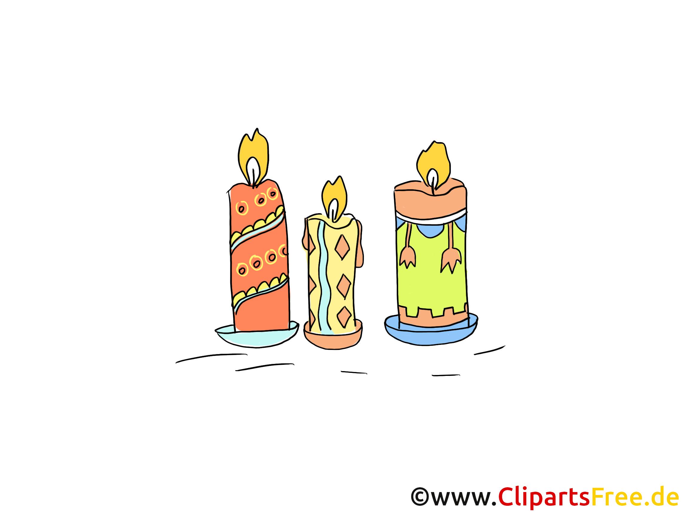 Bougies clip arts gratuits - Fête illustrations
