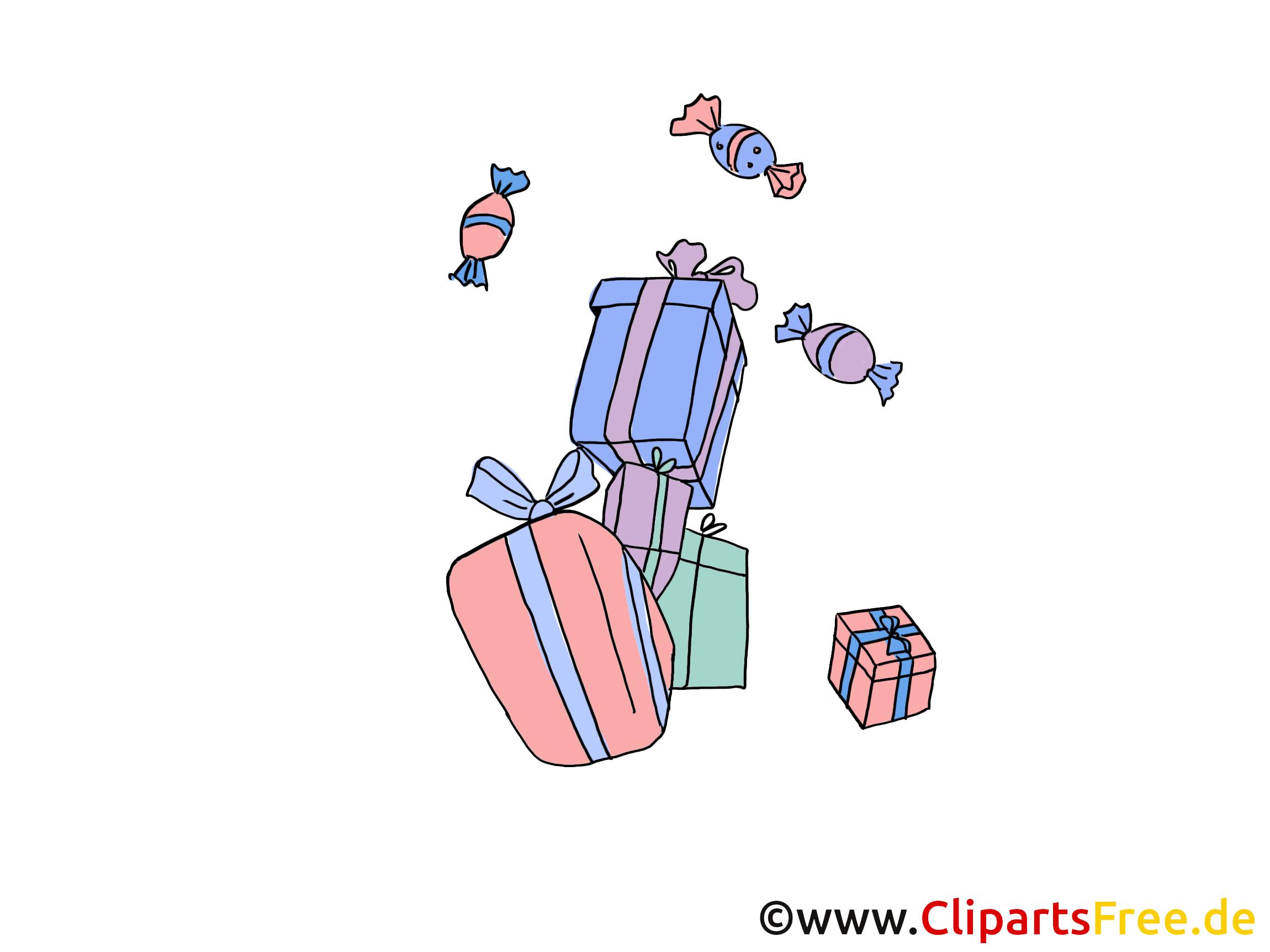 Cadeaux illustration gratuite - Anniversaire clipart