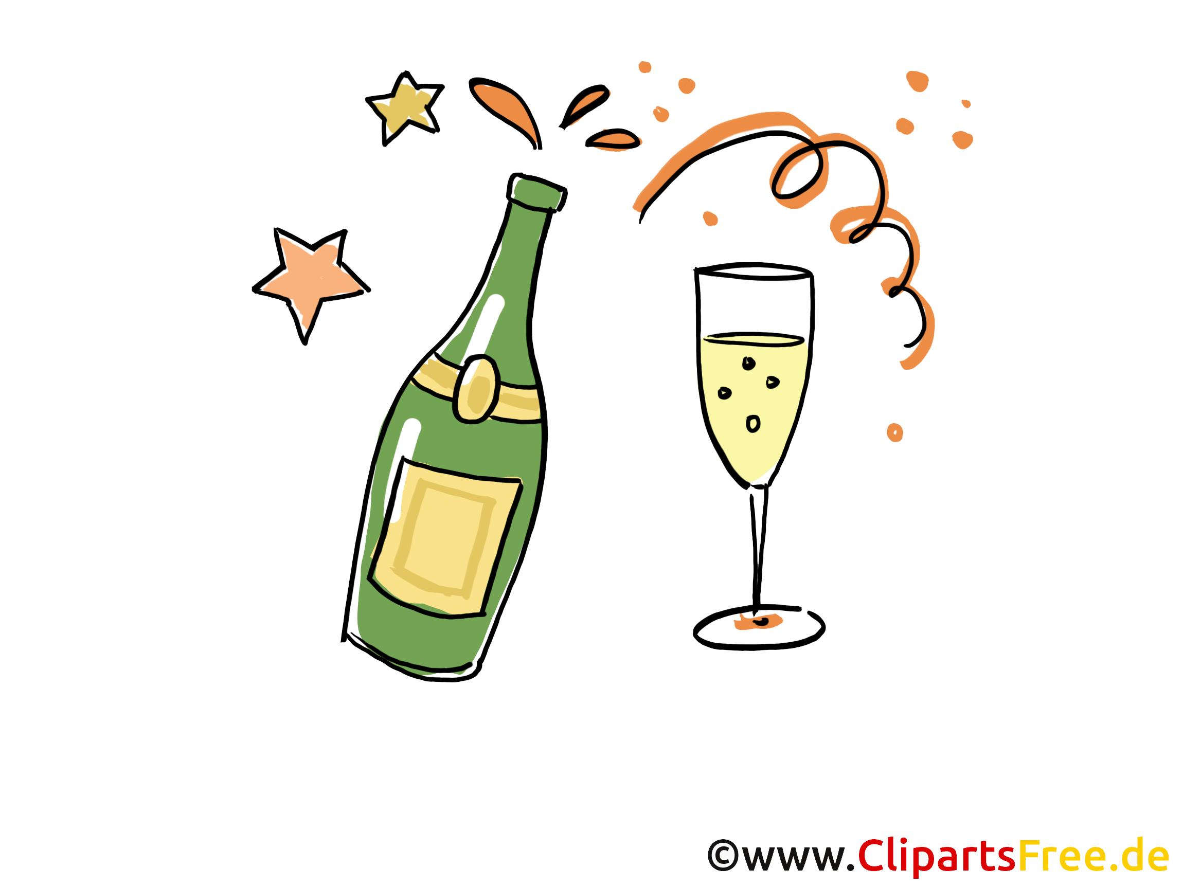 Champagne clip art gratuit – Soirée images gratuites